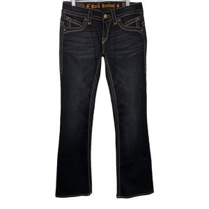 Rock Revival Gwen Boot Cut Dark Wash Jeans 29
